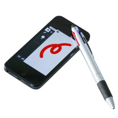 画像2: タッチペン付3色ボールペン