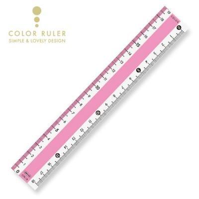 画像2: カラー直線定規18cm