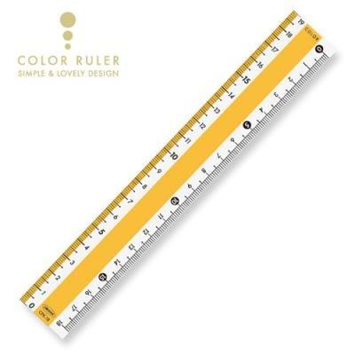 画像1: カラー直線定規18cm