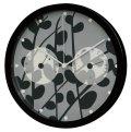 【温湿度計付き電波時計】 ボタニカルクロック