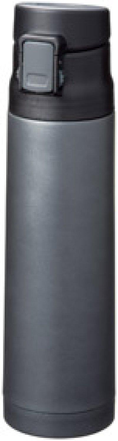 画像2: 真空ステンレスワンタッチボトル500ml (ブラック)
